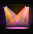 background image spotlights with stage in color vector image