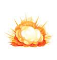 big cartoon bomb explosion vector image vector image