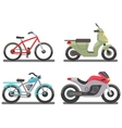 Bike and motorbike vector image