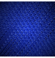 Blue dragon skin background realistic squama vector image