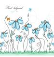 blue floral garden vector image vector image