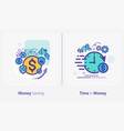 Business and finance concept icons money saving