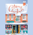 christmas market greeting card vector image