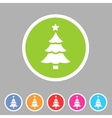 Christmas tree icon flat web sign symbol logo vector image vector image