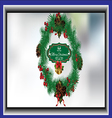 Christmas wreath card vector image vector image