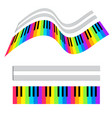 colorful piano keys and stave vector image vector image