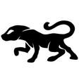 crouching feline vector image vector image