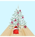 Decorated Christmas tree with toys New Year vector image vector image
