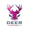 deer head animal logo design your company vector image vector image