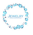 diamonds and gems shining jewelry background vector image