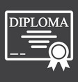 diploma line icon education and certificate vector image vector image