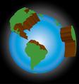 earth three dimensional vector image vector image