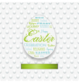 easter typography background with ribbon vector image vector image