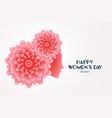 elegant happy womens day flower face concept vector image