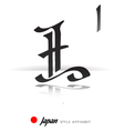 English alphabet in Japanese style - L vector image