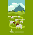 farming today organic farm a herd boer goats vector image vector image