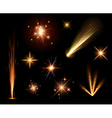 Festive orange firework set vector image