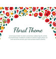 floral theme banner template with beautiful vector image vector image