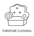 furniture cleaning service company clean vector image