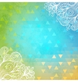 Geometric background with doodles and triangles vector image vector image