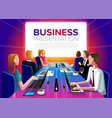 group business meeting vector image vector image
