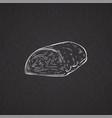 hand drawn pork tenderloin or beef fillet vector image
