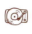 Hand Drawn Record Player vector image vector image
