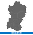 high quality map city of germany vector image vector image