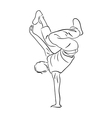 Hip-hop dancer contour sketch vector image