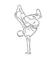 Hip-hop dancer contour sketch vector image vector image