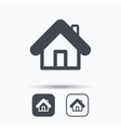 Home icon House building sign vector image vector image