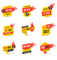hot sale banners design templates set vector image vector image