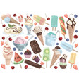 ice cream set on a white background vector image