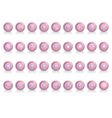 Icon set Pink Pearl vector image