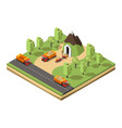 isometric coal extraction concept vector image vector image