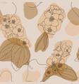 jasmine flowers and leaves vintage seamless vector image vector image