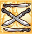 knife hand drawing vector image vector image