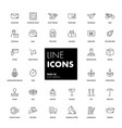 line icons set post service vector image