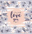 love card valentine greeting cards floral frame vector image