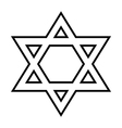Magen David icon vector image