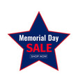 Memorial day sale banner template design of
