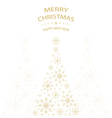 Merry Christmas card snowflakes christmas tree vector image vector image