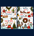merry christmas wish sketch greeting card vector image vector image