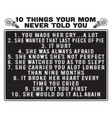 mother quote 10 things your mom never told you vector image vector image