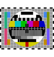 pal tv test signal vector image vector image