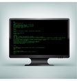 pc monitor code vector image vector image