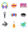 piano icons set cartoon style vector image vector image