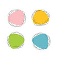 pink blue yellow and green stickers stains vector image