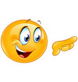 pointing right emoticon vector image vector image