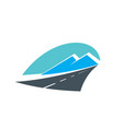 road in mountains icon highway travel transport vector image vector image